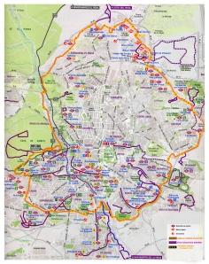 Cinturón ciclista de Madrid/ Madrid cyclist belt.